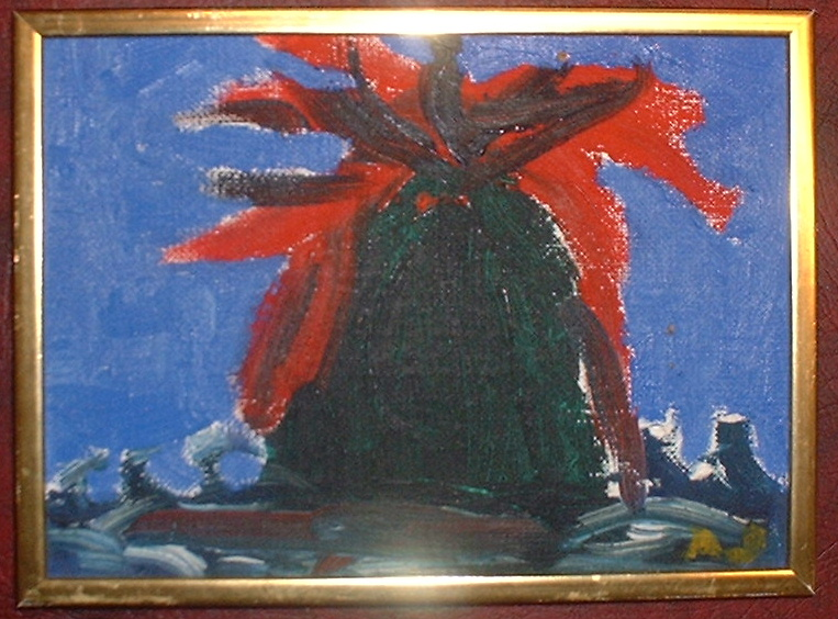 Jorn Asger(Ascribed) oil on canvas signed with monogram